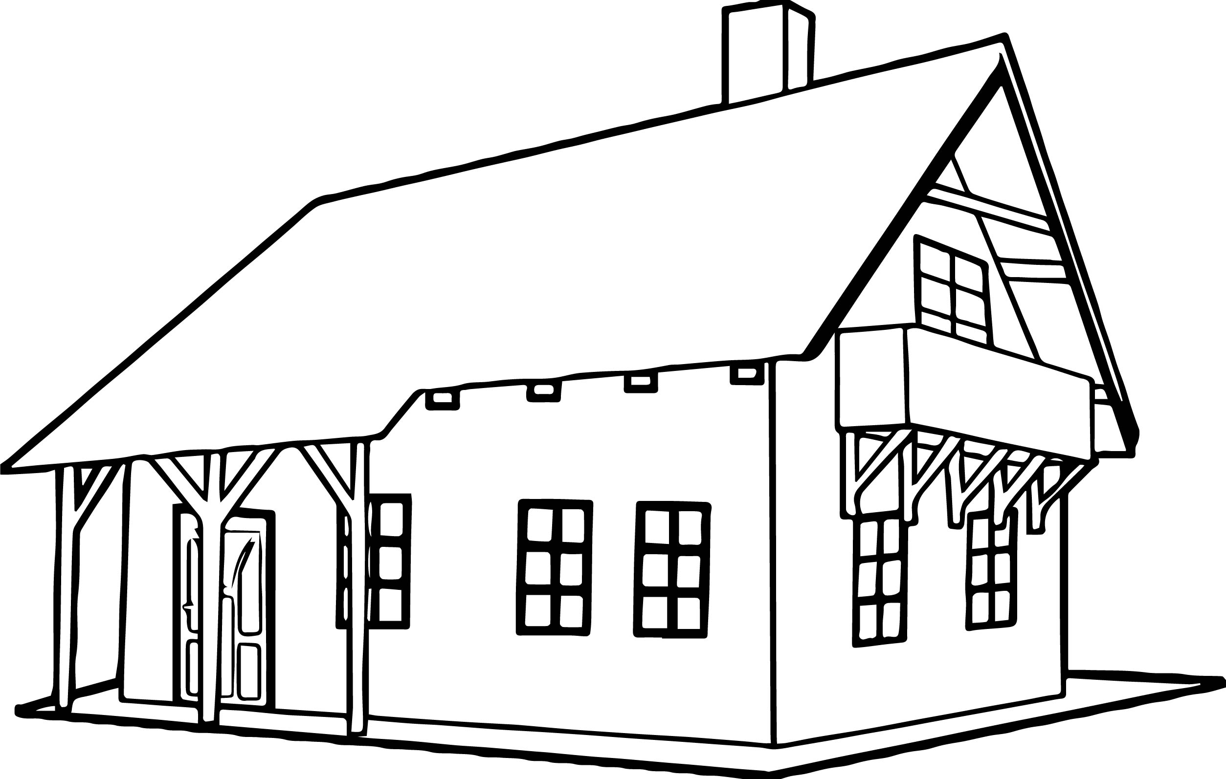 Machovka House Coloring Page Wecoloringpage Com