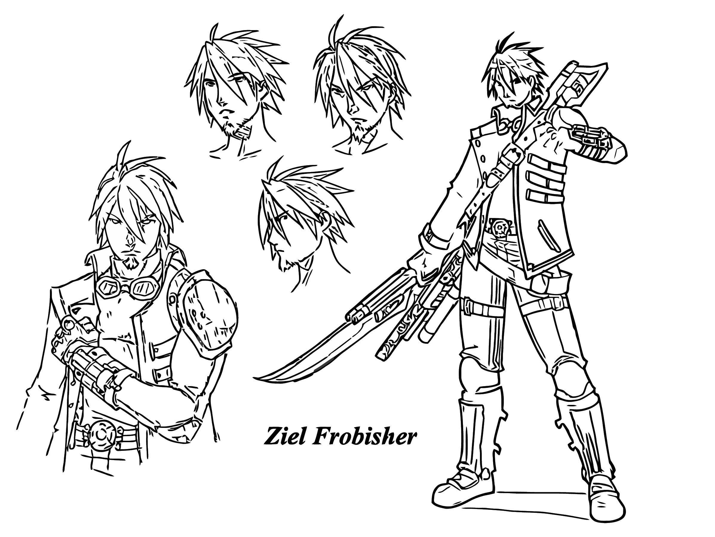Milkjunkie Ziel Frobisher Character Design Cartoonize Coloring Page