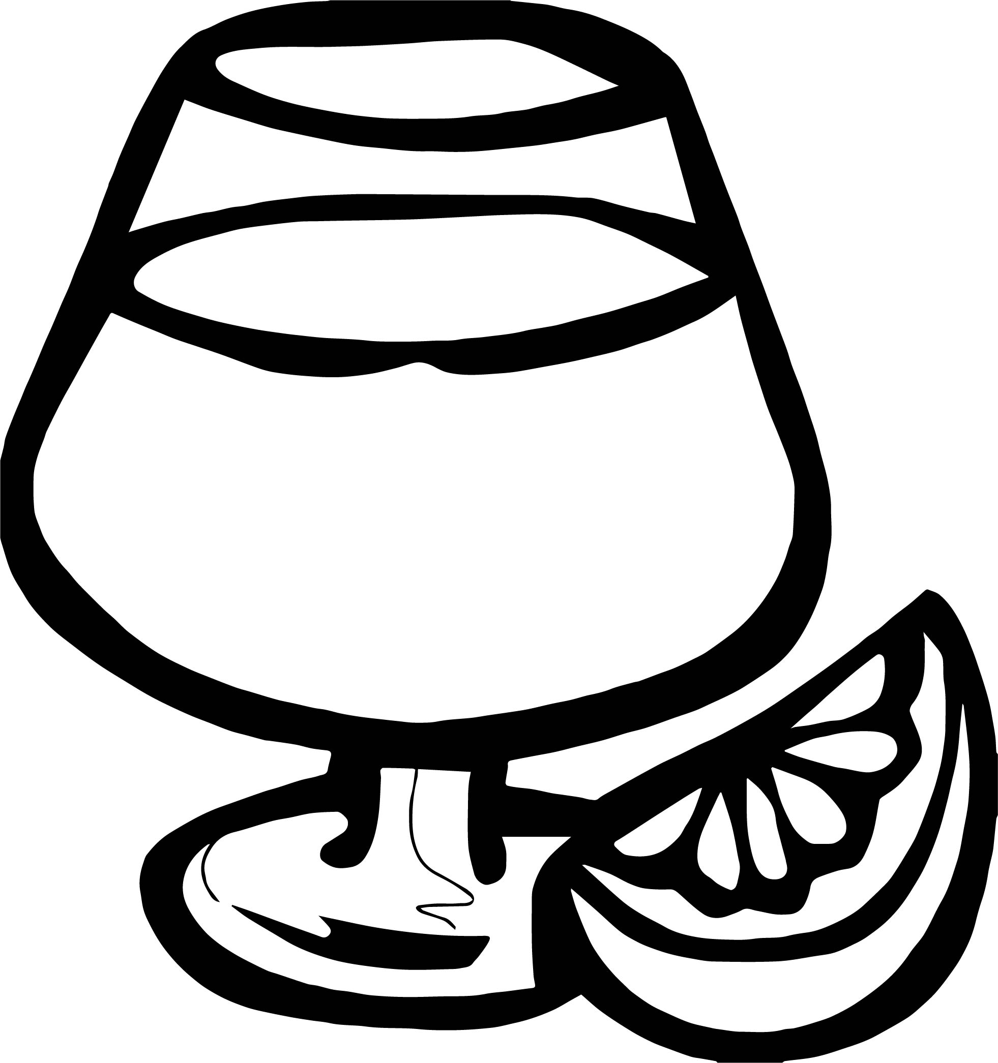 Mixed Drink Lemon Coloring Page