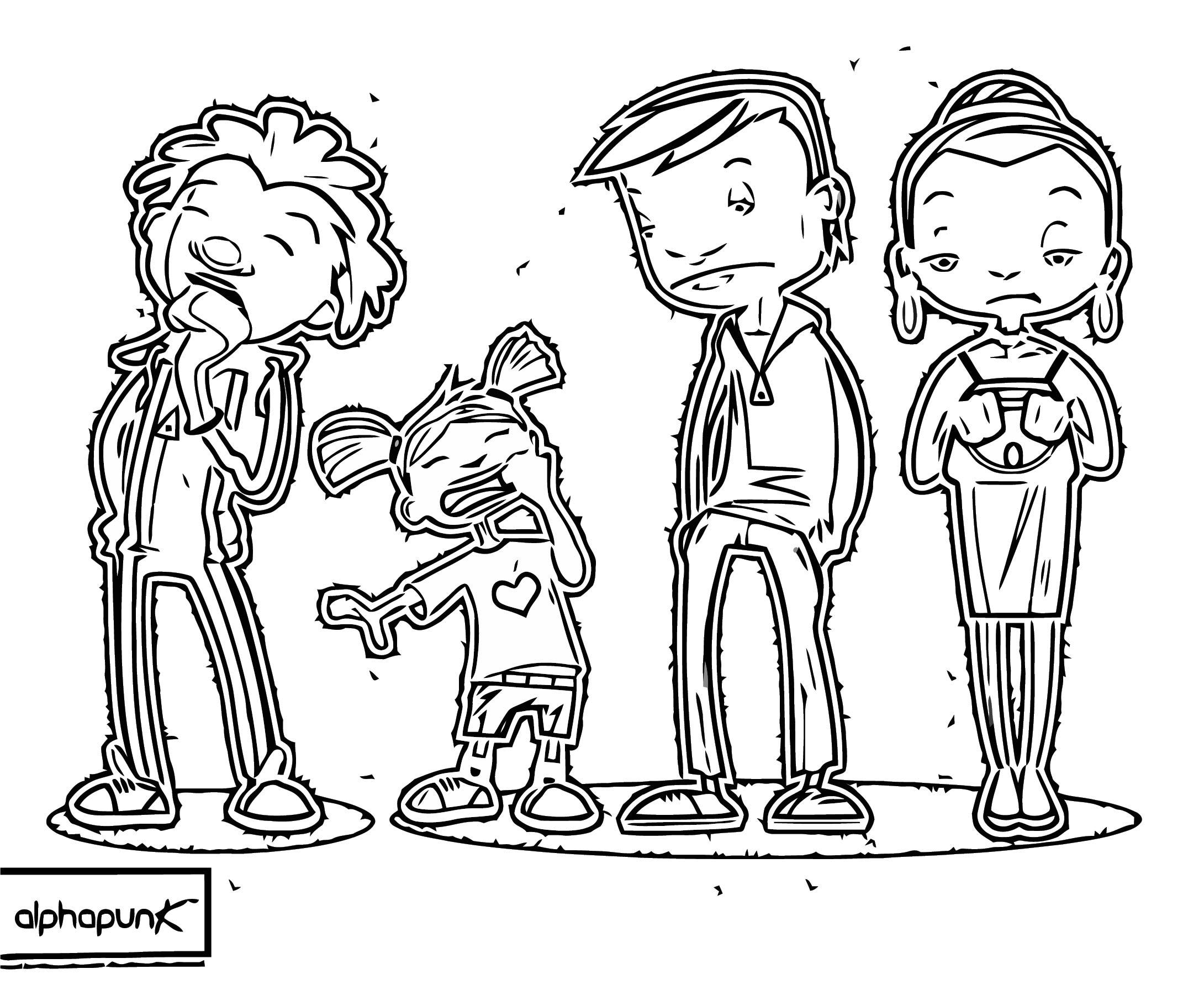 Ninjabeaver Slide Design Qu Characters 001 Cartoonize Coloring Page