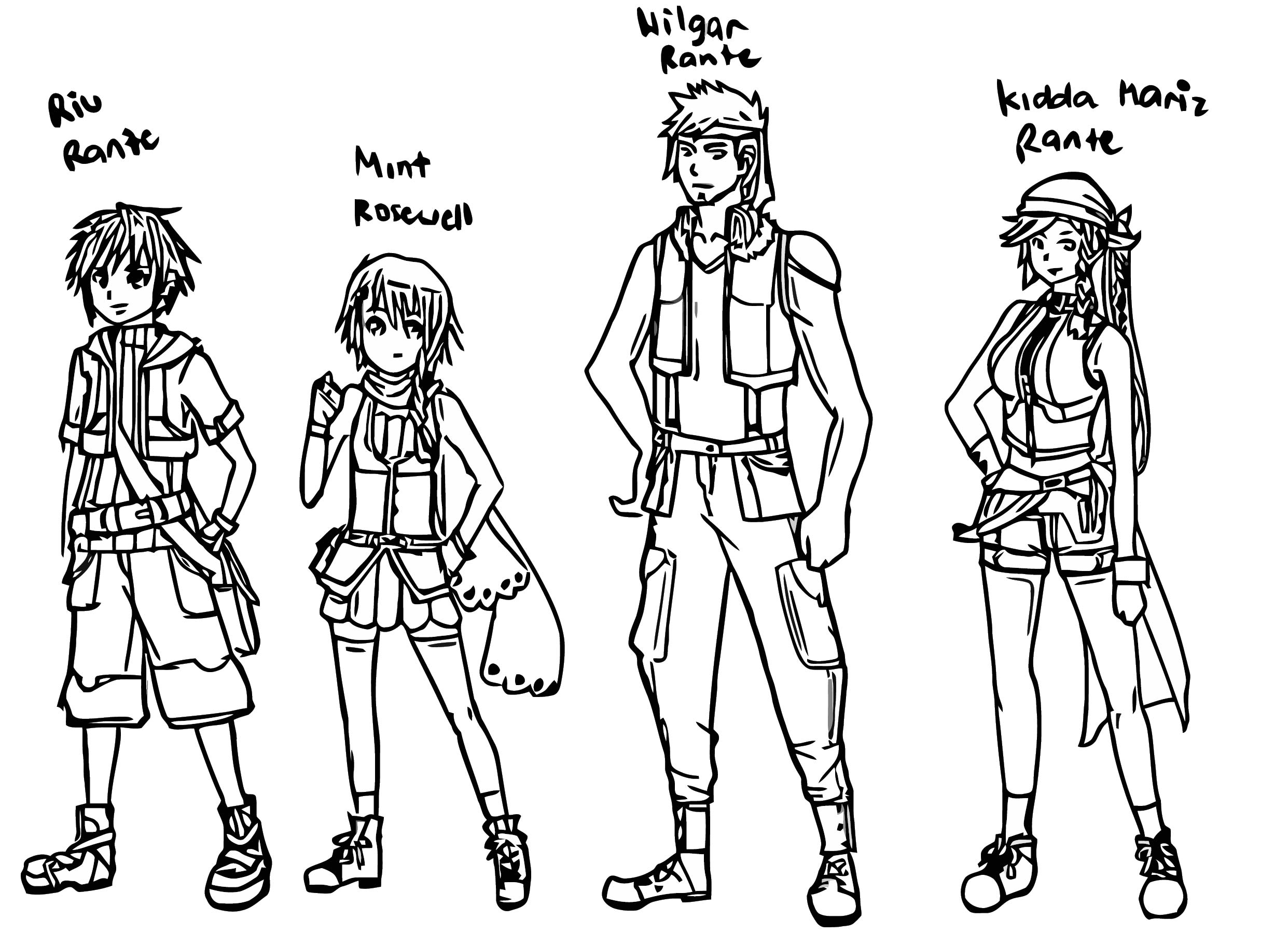 Oc Character Design Bente Unerz36 D3hqw0t Cartoonize Coloring Page
