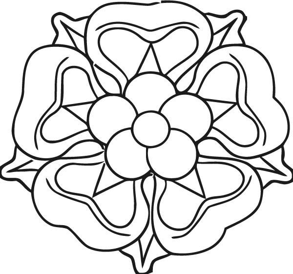 Official Tudor Rose Md Coloring Page