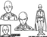 One Punch Man Anime Character Design Saitama Cartoonize Coloring Page