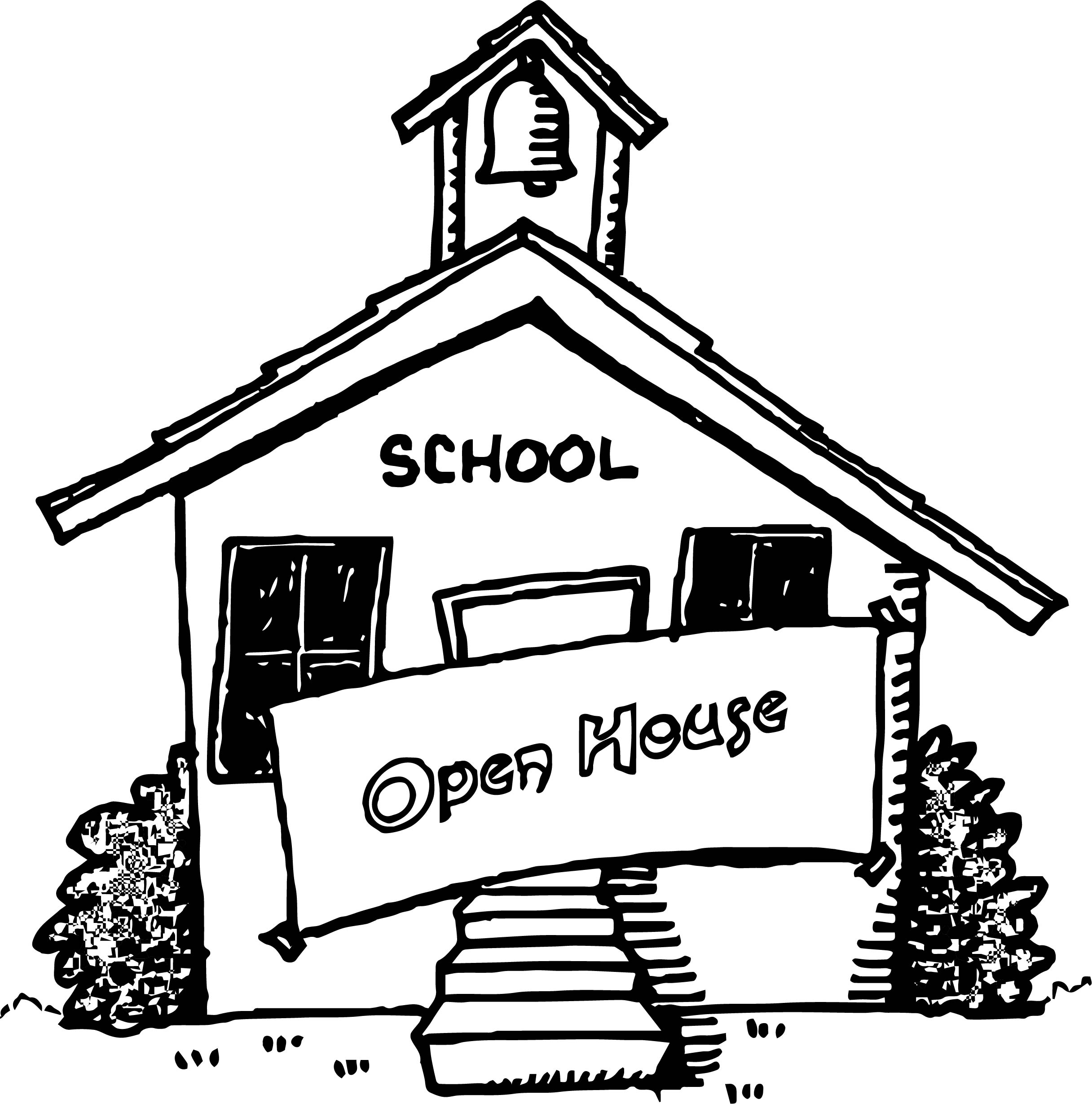 Open House Coloring Page
