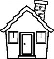 Pixel House Coloring Page