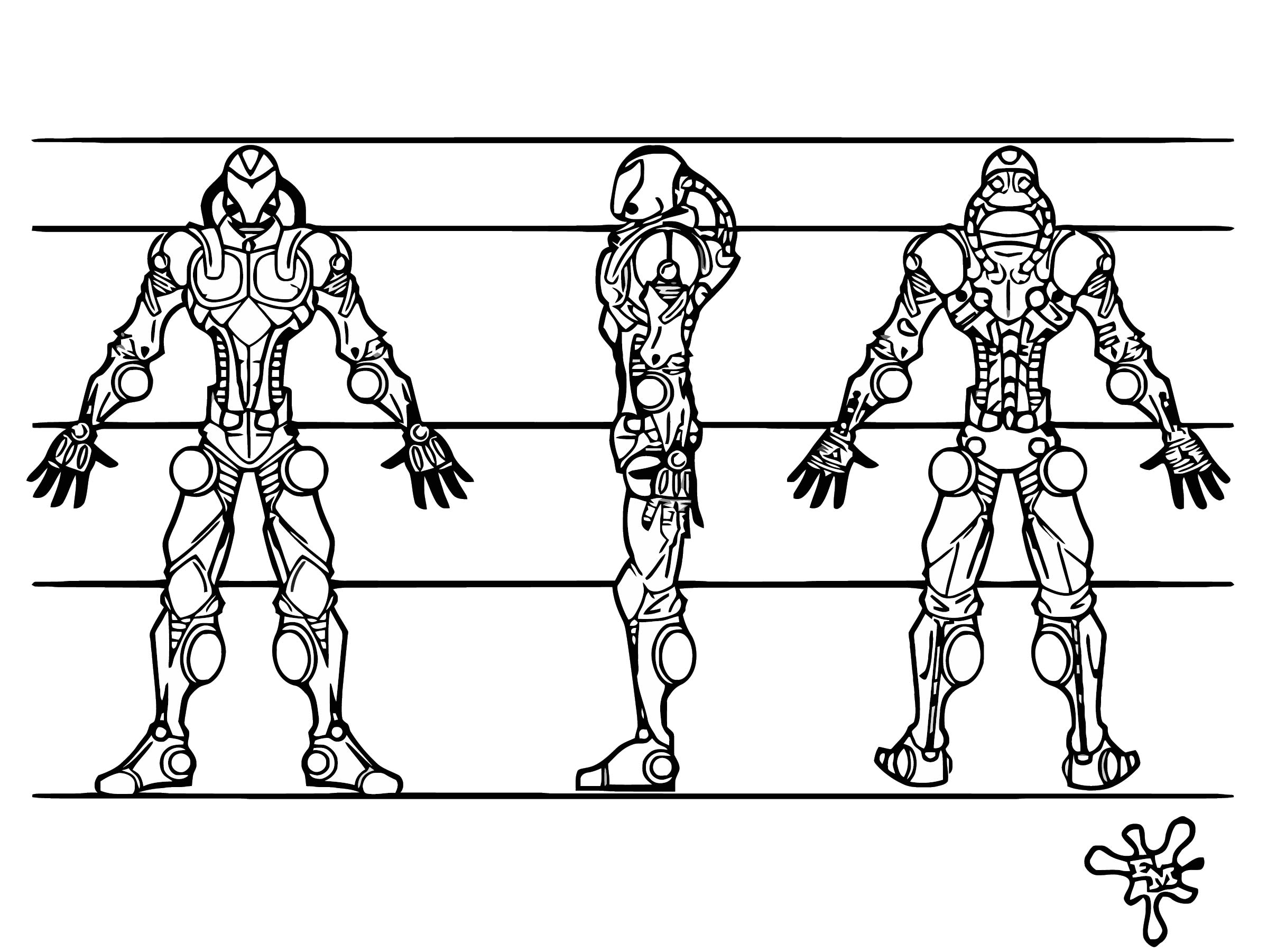 Portfolio Work Character Design Cyber Cartoonize Coloring Page