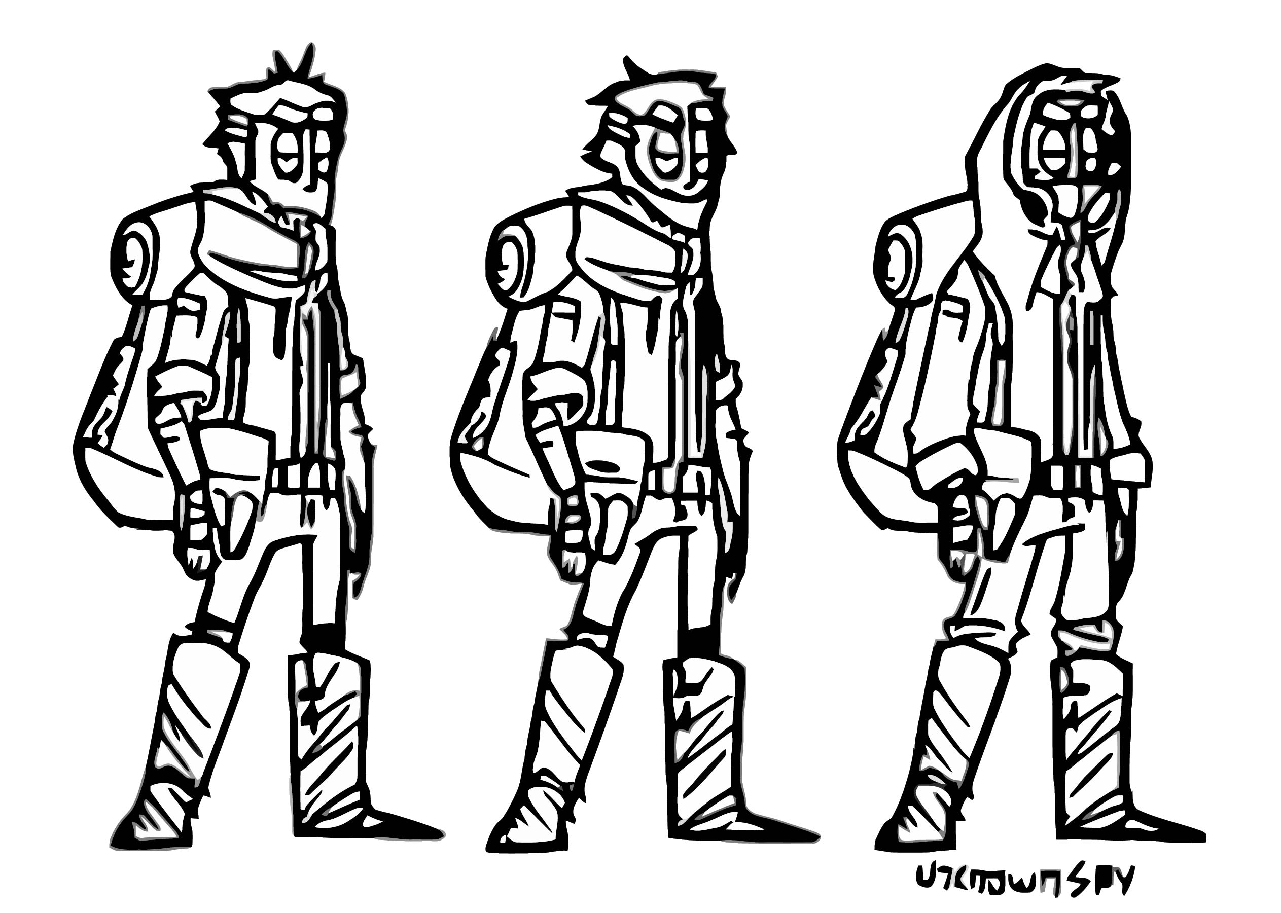 Post Apocalyptic Character Design Unknownspy D9brko7 Cartoonize Coloring Page