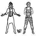 Raven And Skylark Official Ns Character Designs Hannarrawr D6d0dcw Cartoonize Coloring Page