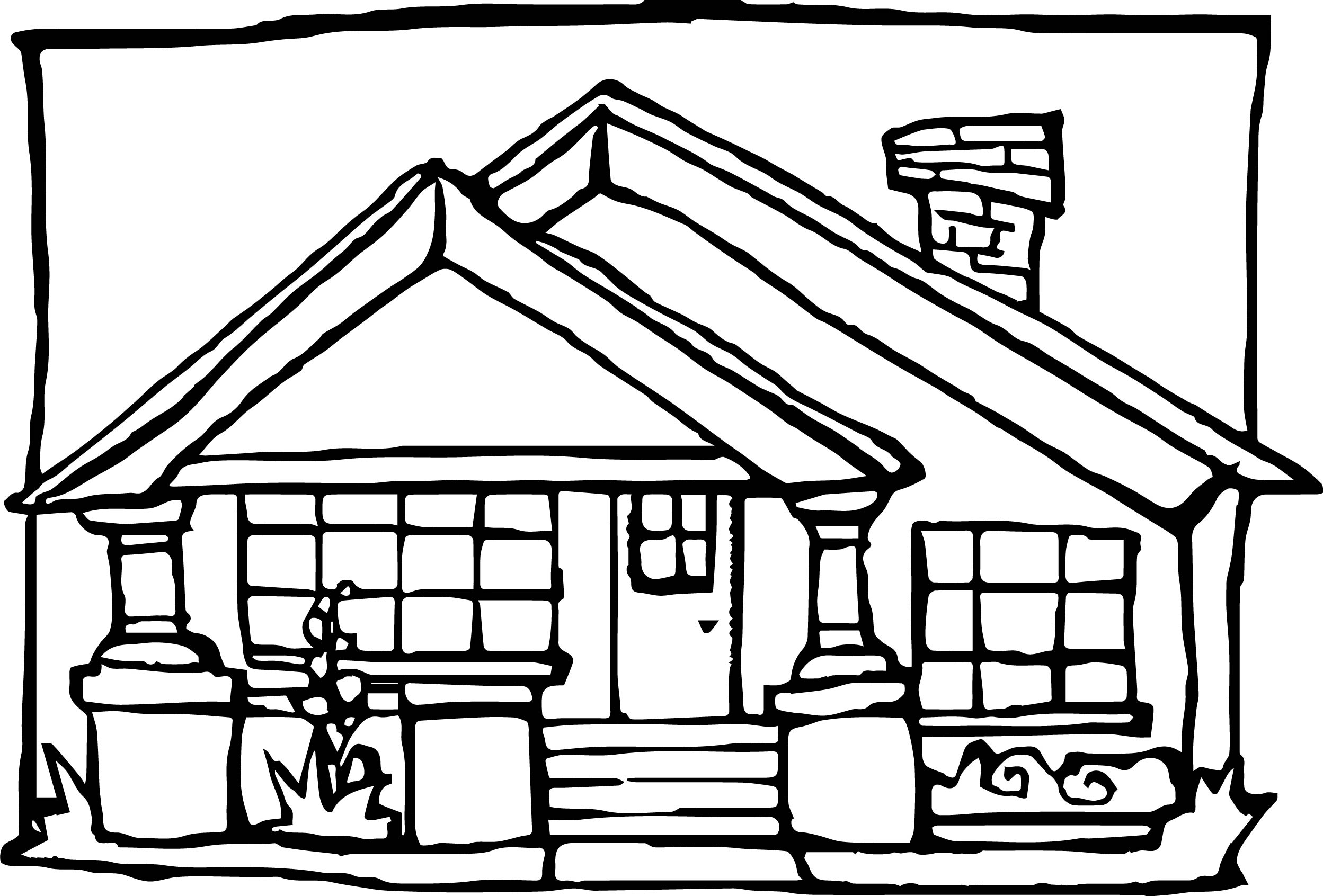 Real Estate House Coloring Page