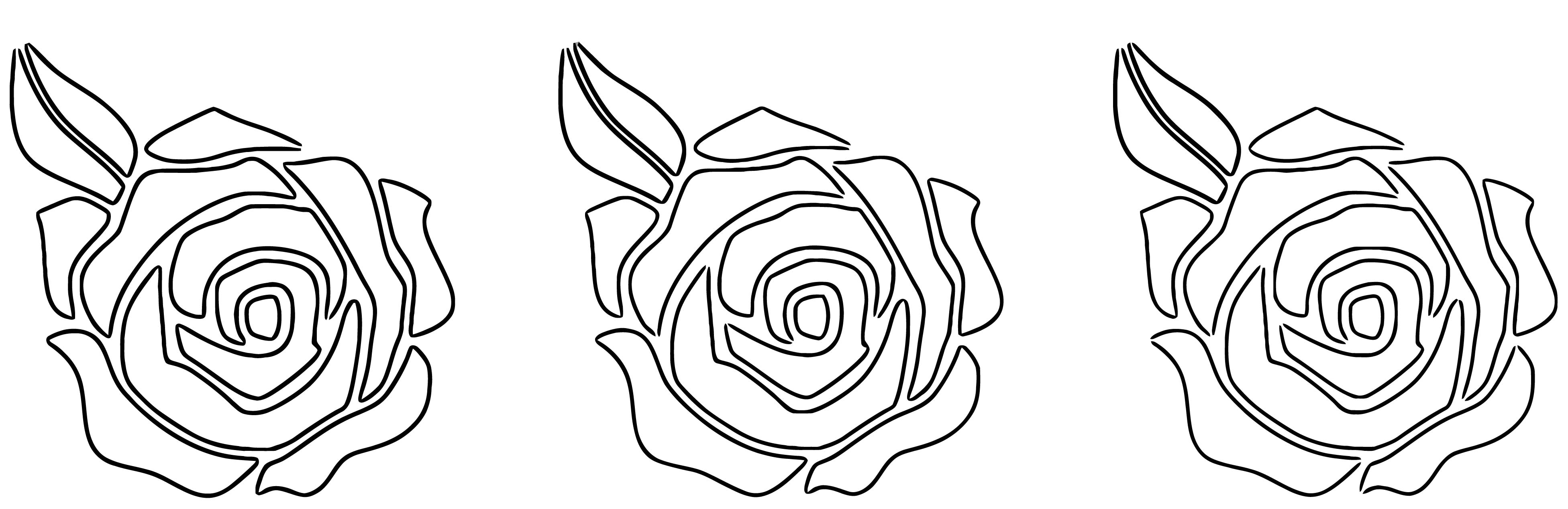 Red Blue Violet Roses Coloring Page