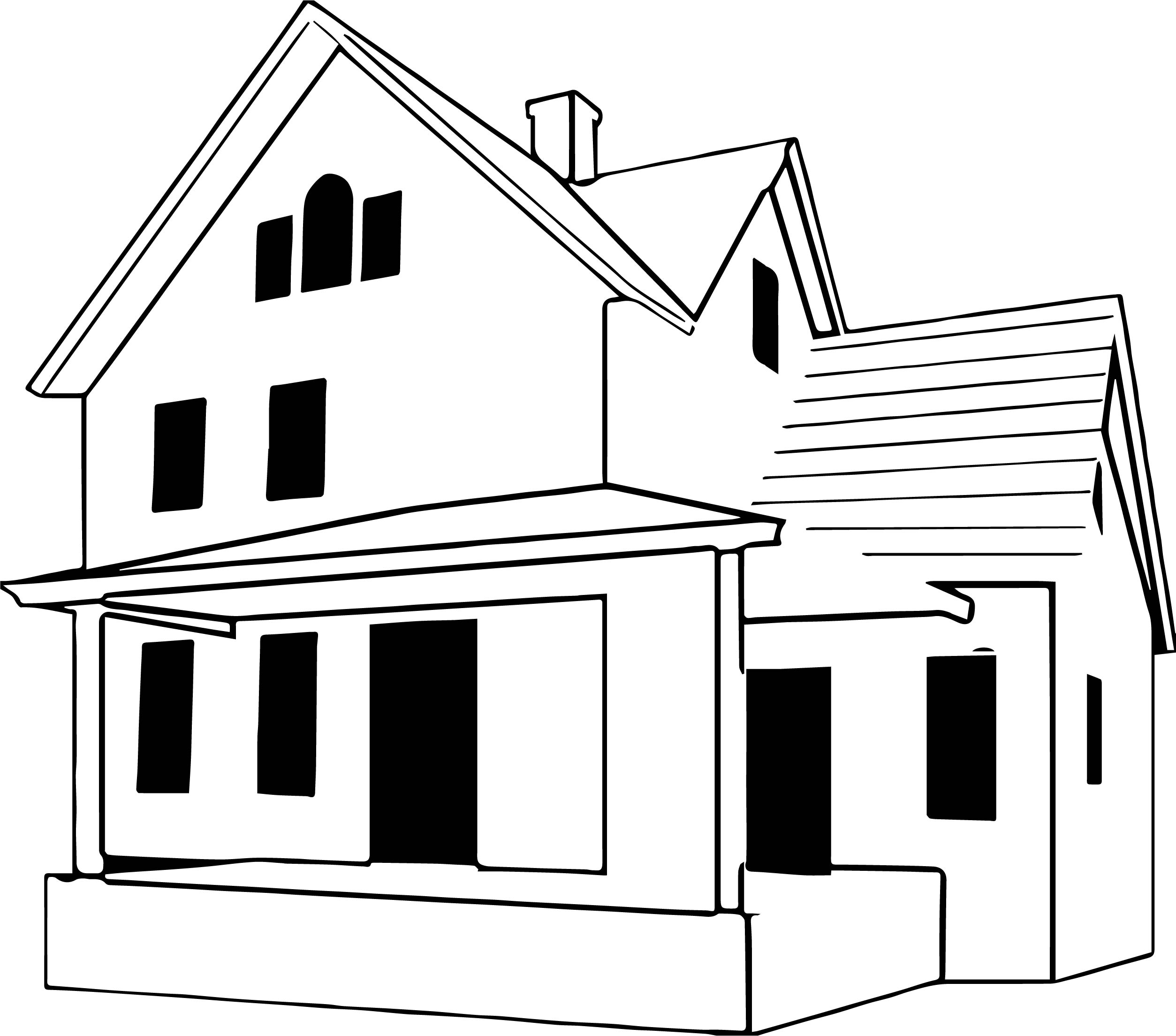 Residence House Coloring Page