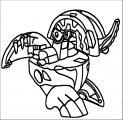 Robot Bakugan Coloring Page