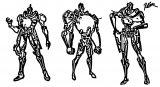 Robot Character Design Redcode77 D4vaue2 Cartoonize Coloring Page