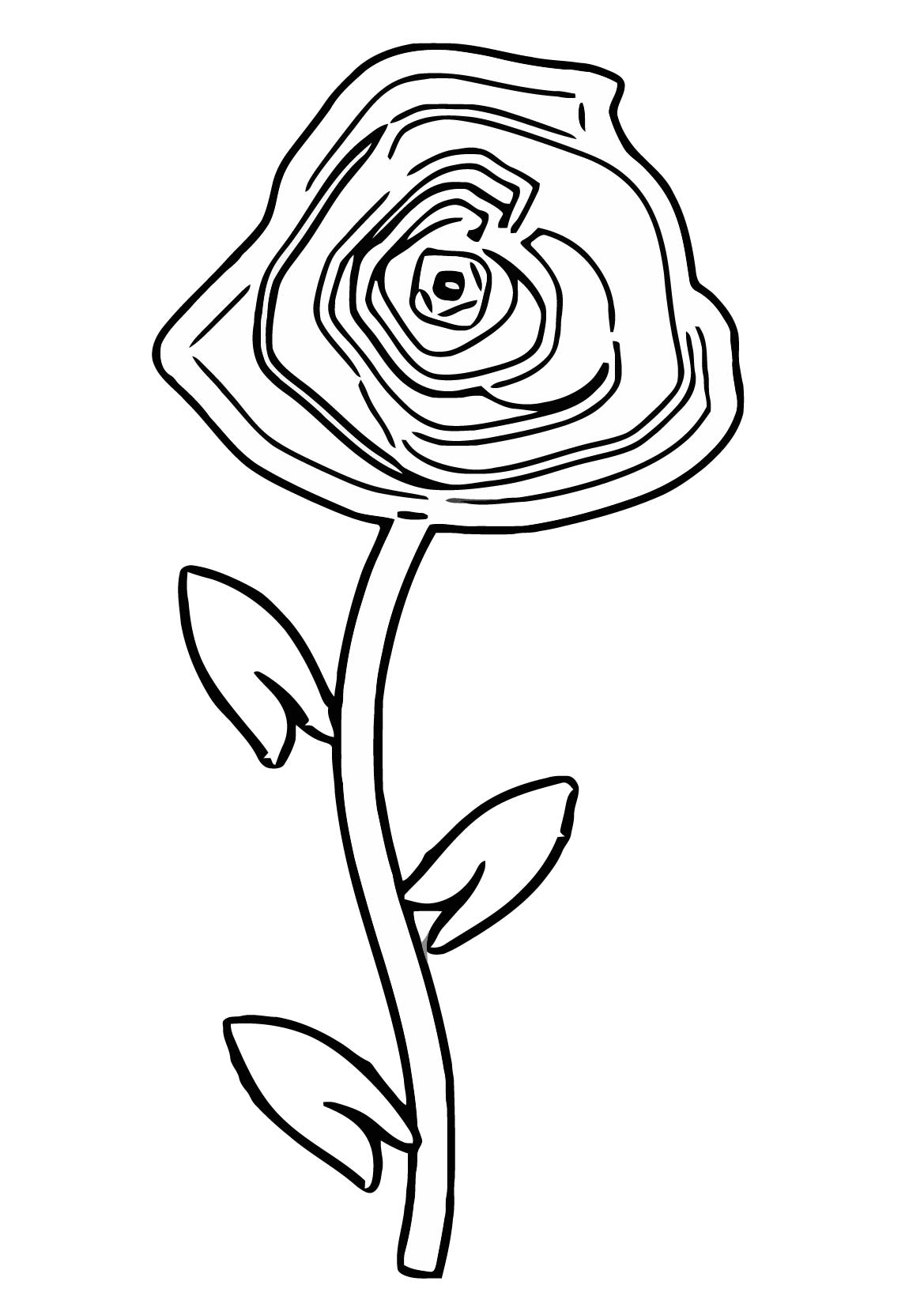 Rose Clip Art 2 Coloring Page