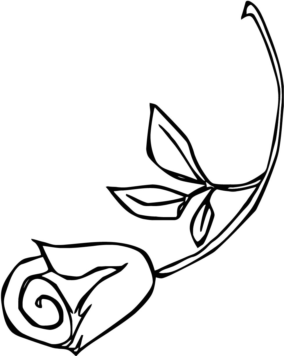 Rose Clip Art Coloring Page