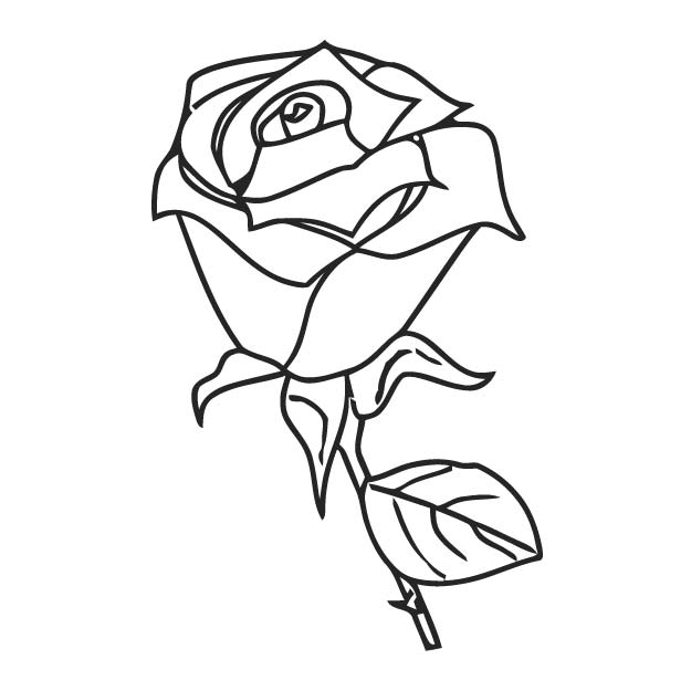 Rose Clip Art Rose Clip Art 22 Coloring Page