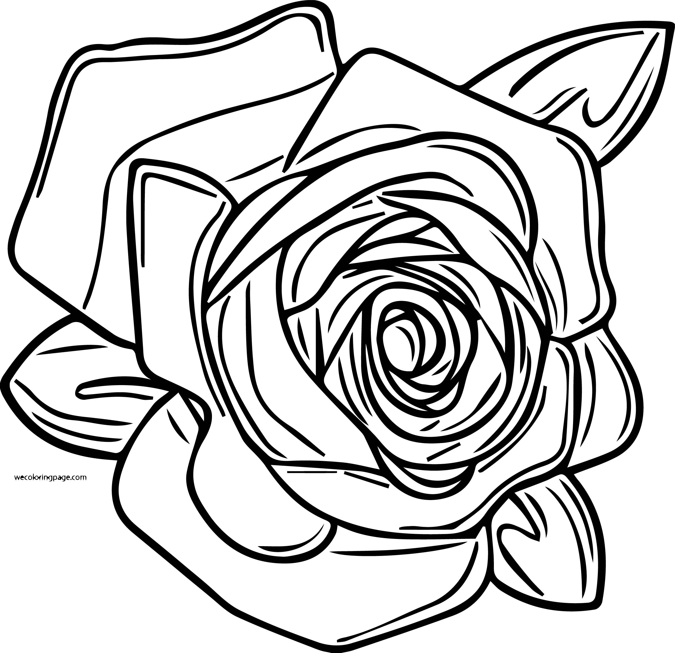 Rose Coloring Page 03