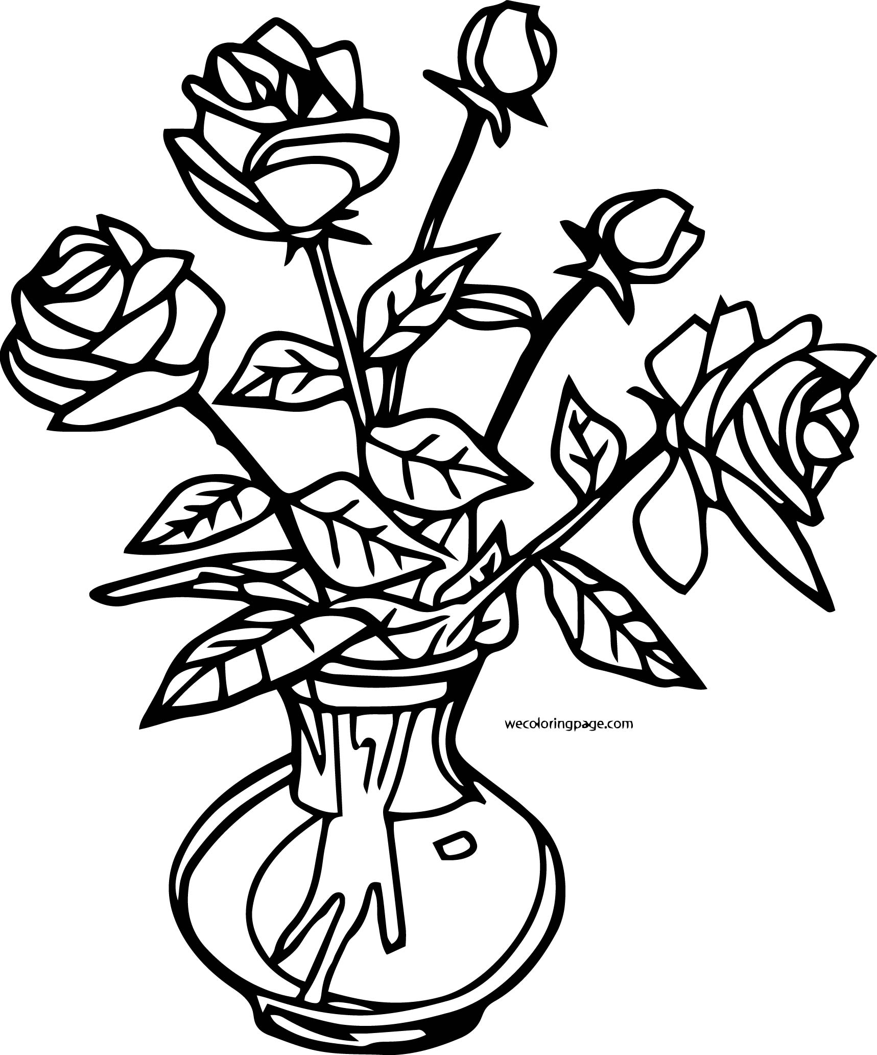 Rose Coloring Page 12