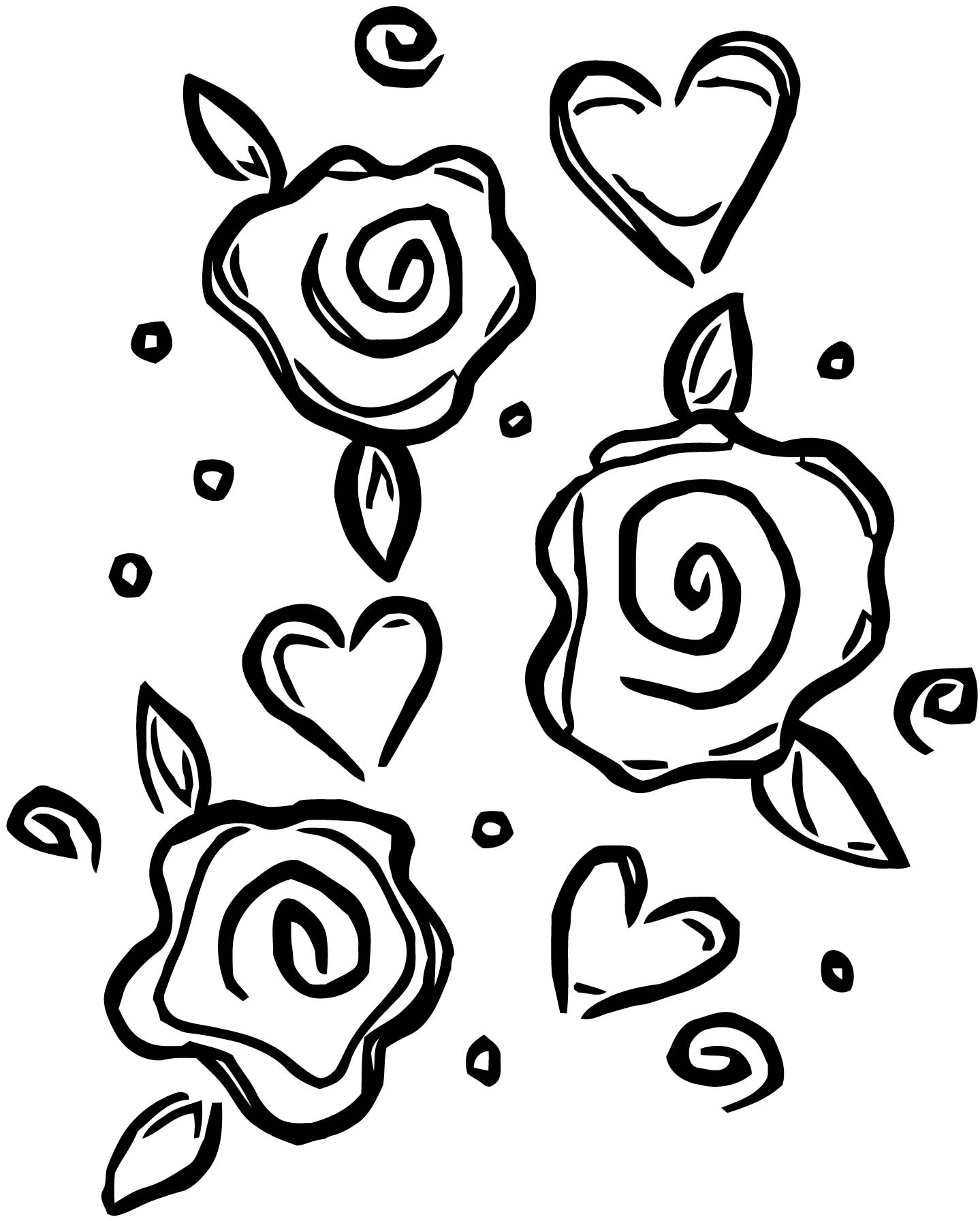 Rose Coloring Page 136