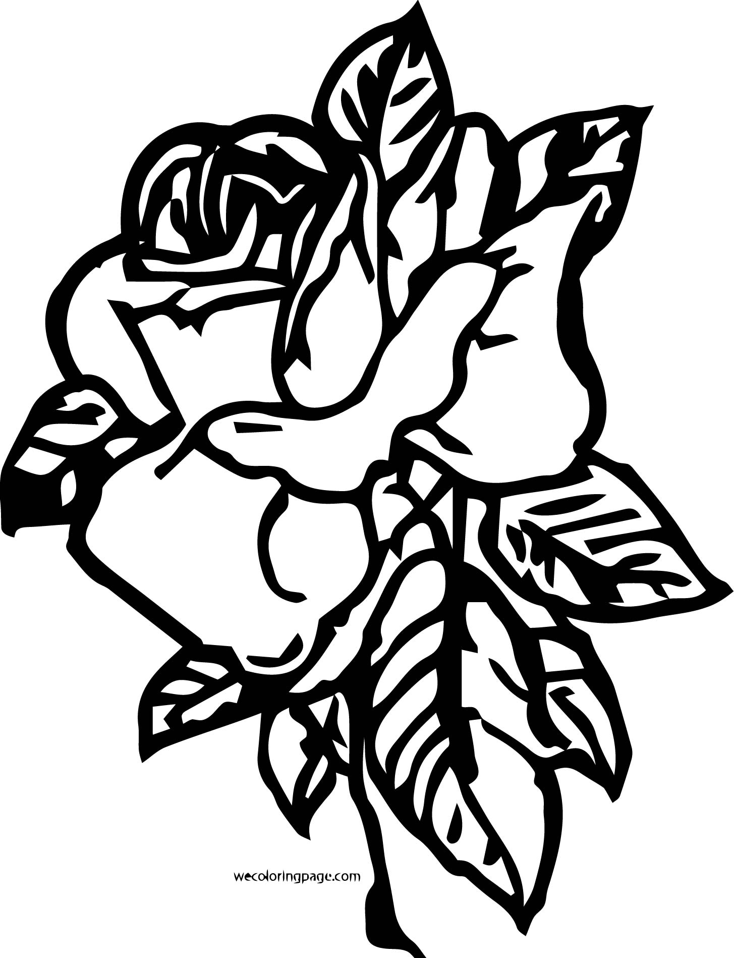 Rose Coloring Page 15