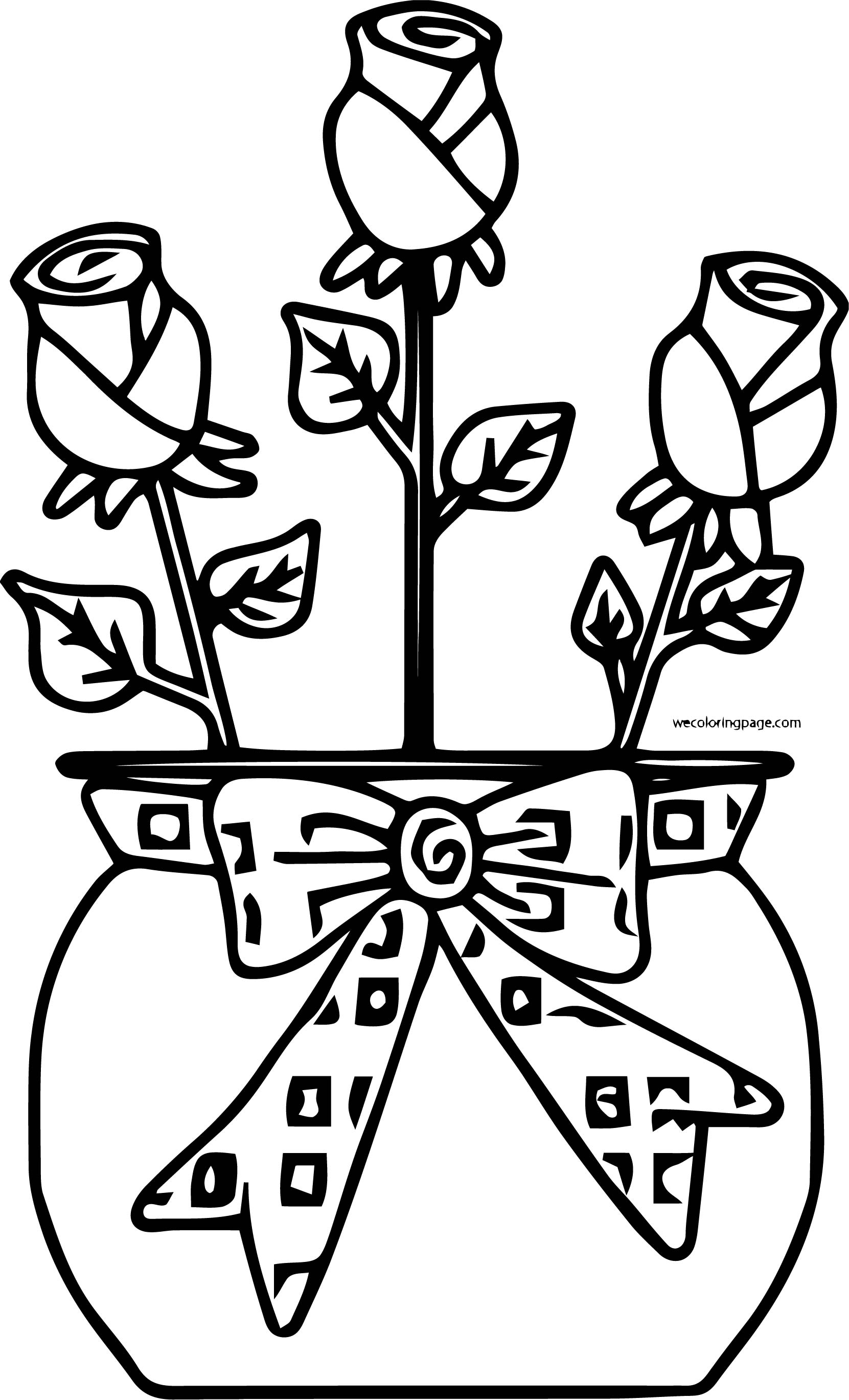 Rose Coloring Page 19