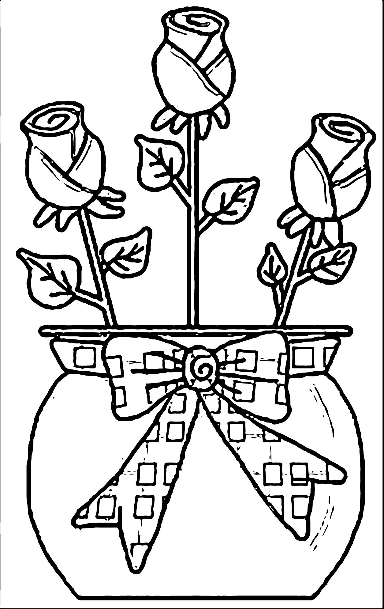 Rose Flower Coloring Page 013