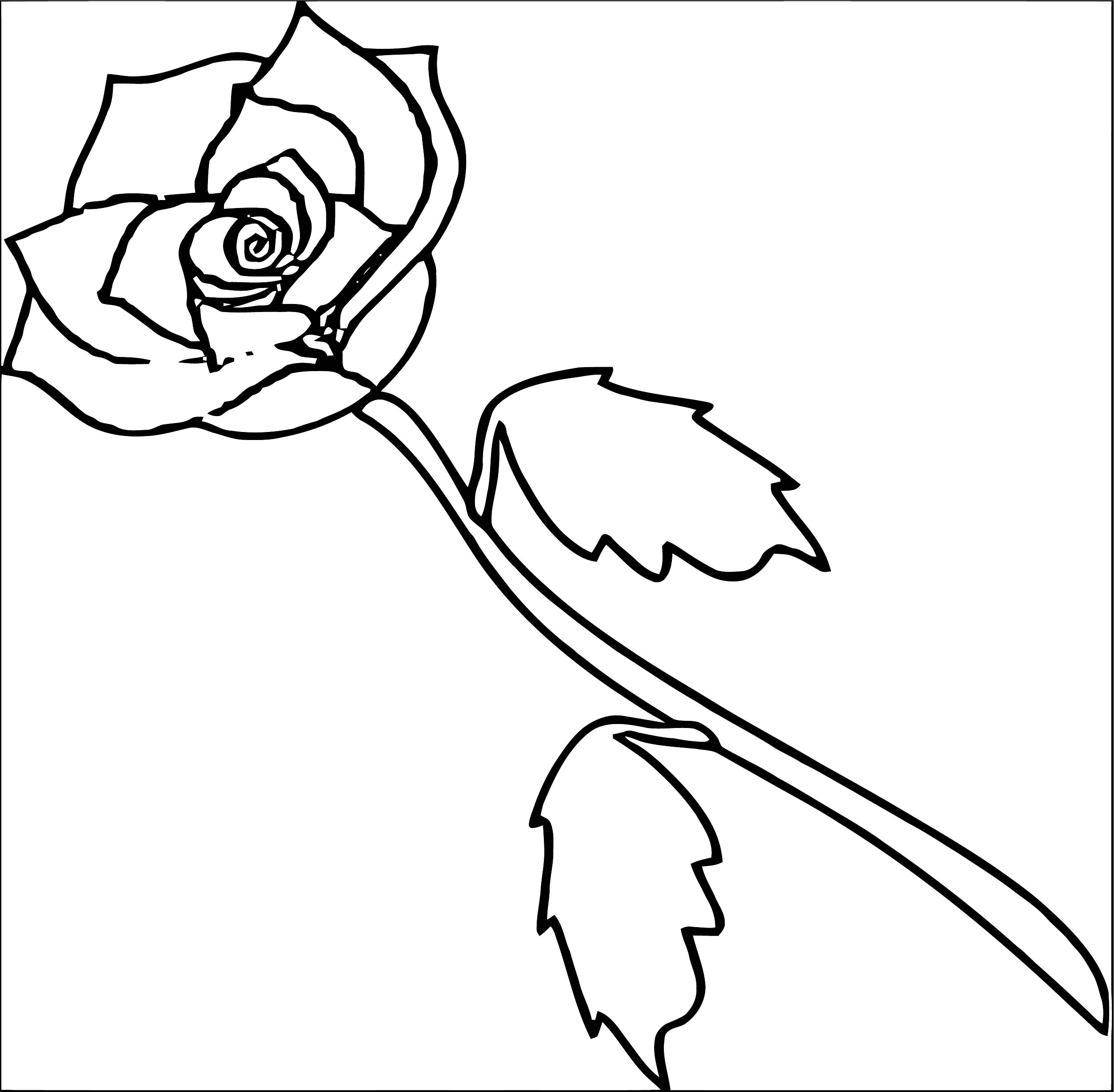 Rose Flower Coloring Page 044