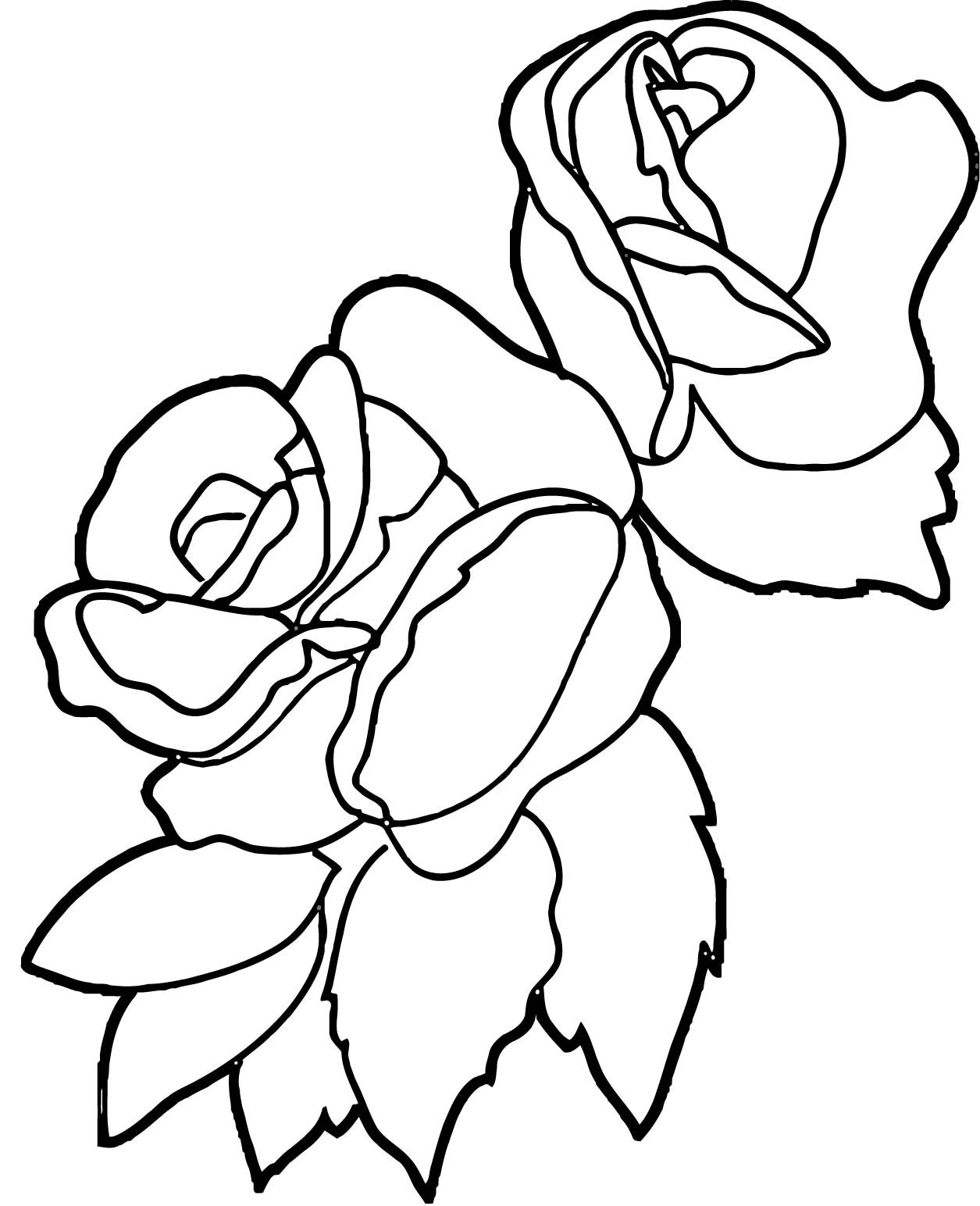 Rose Flower Coloring Page 066