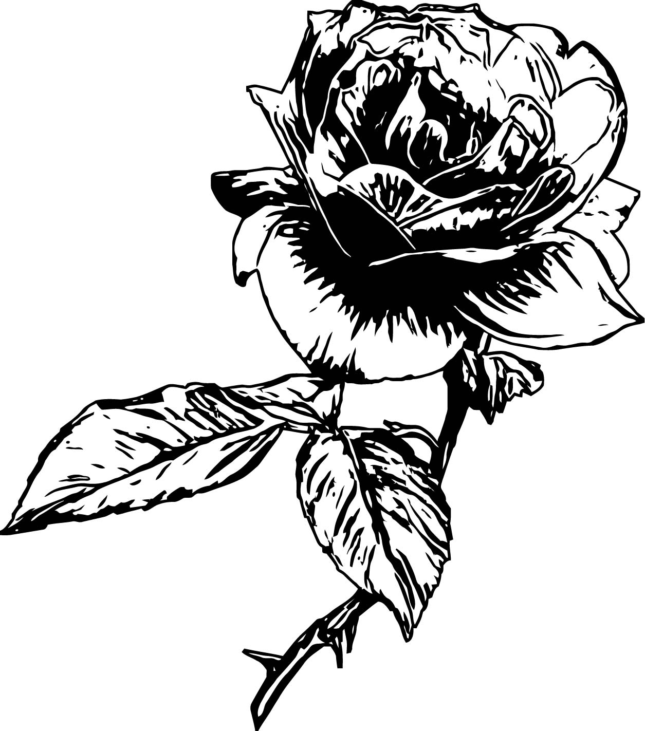 Rose Flower Coloring Page 094