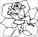 Rose Flower Coloring Page 111