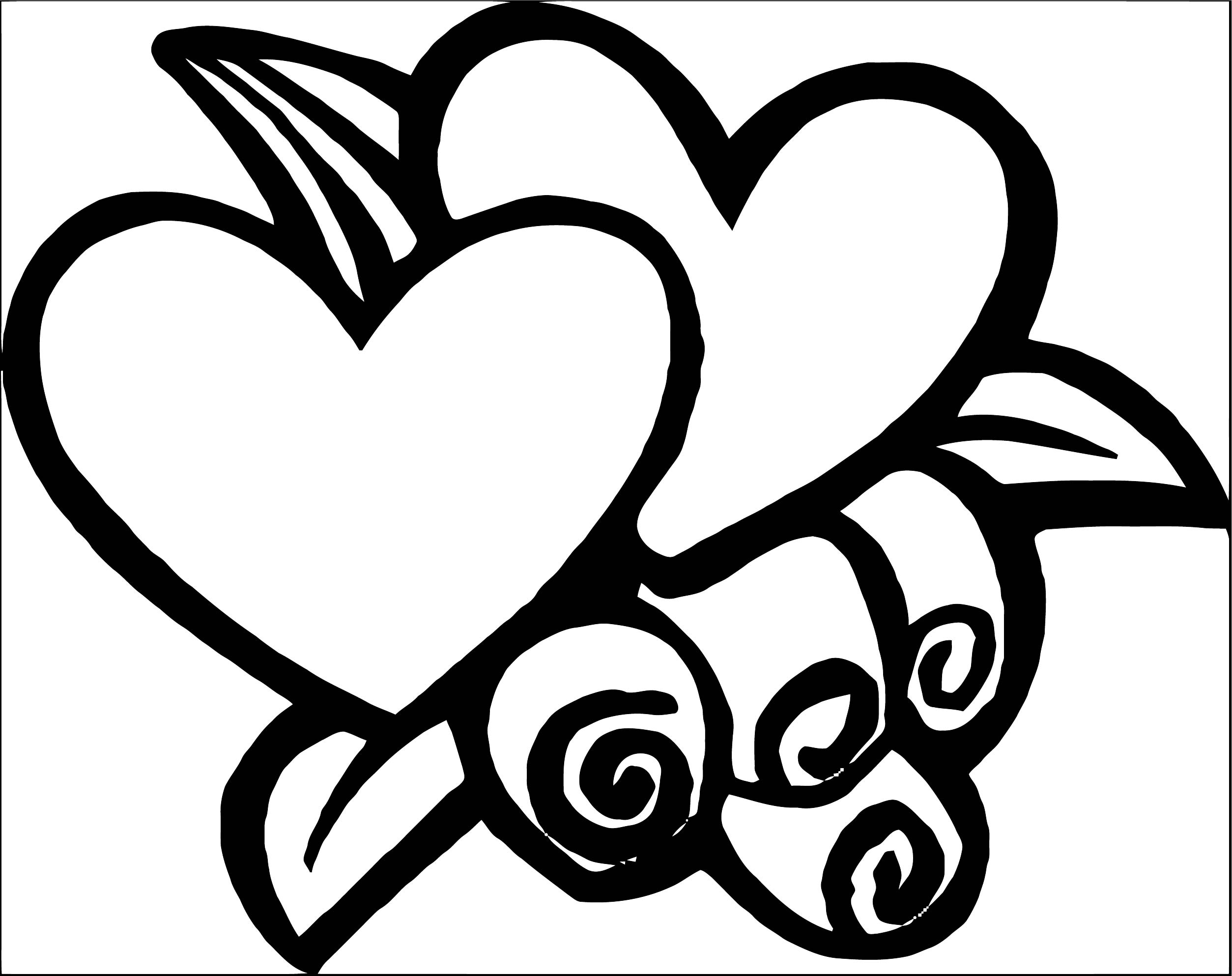 Rose Flower Coloring Page 124