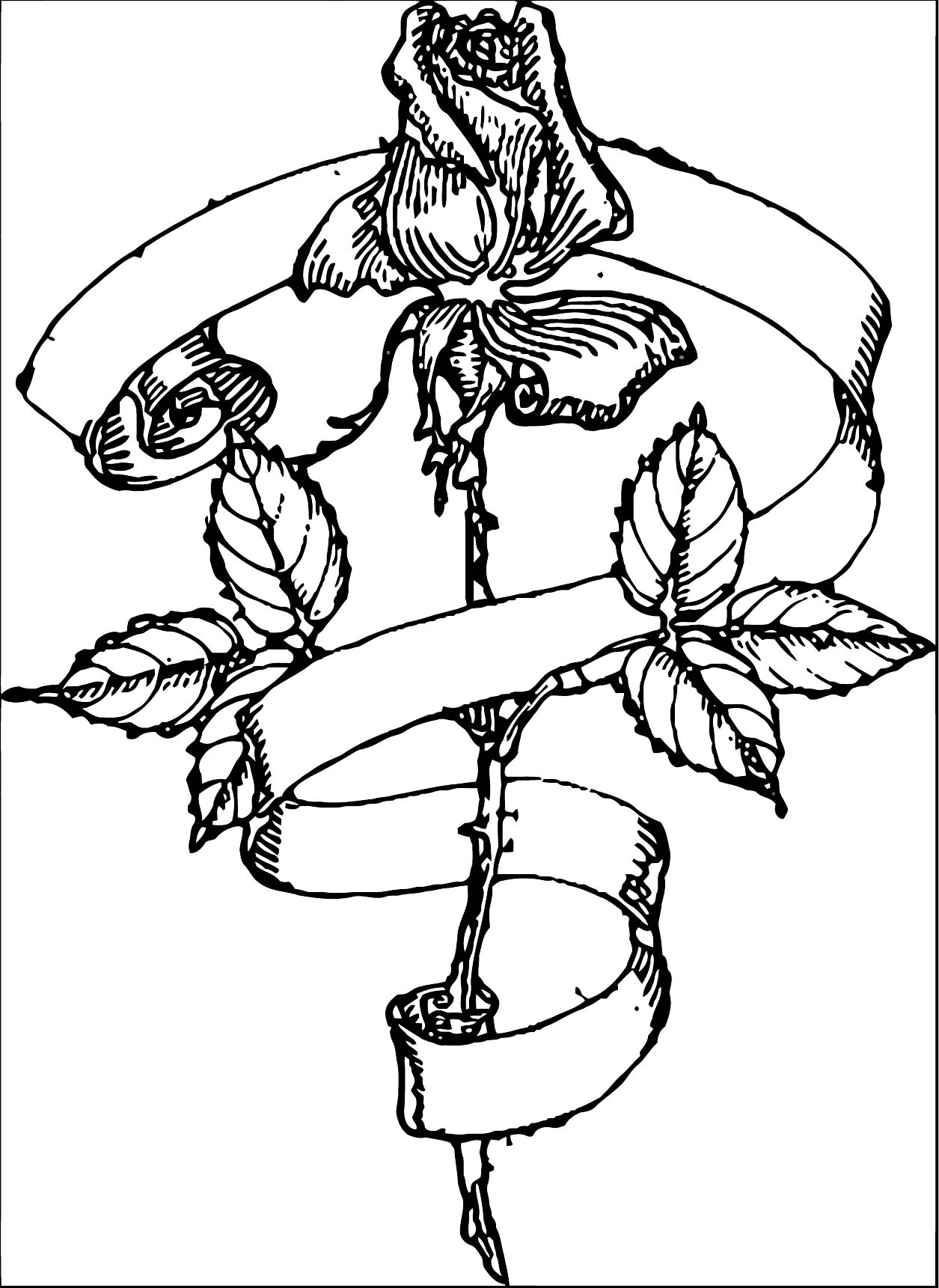 Rose Flower Coloring Page 134