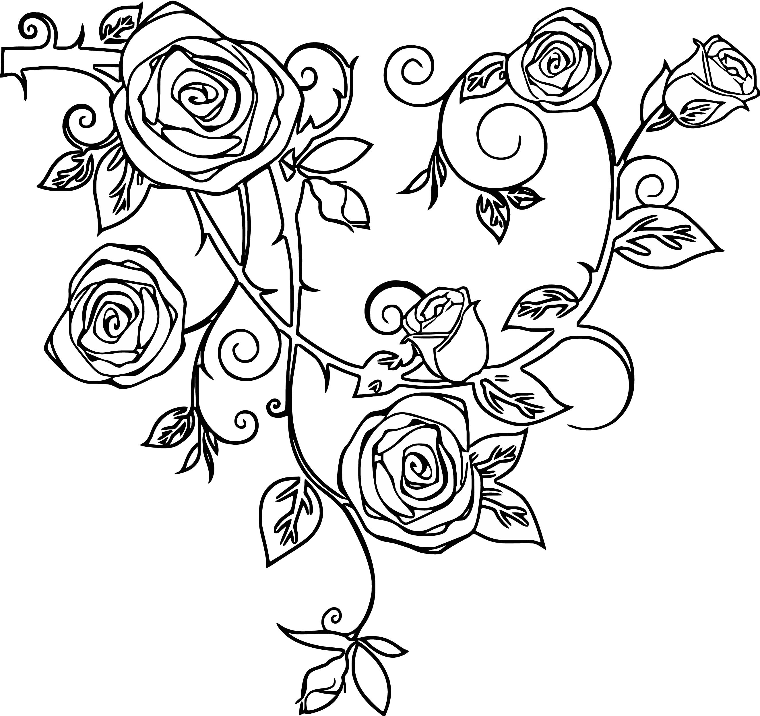 Rose Free Images At Vector Clip Art Online Royalty Coloring Page