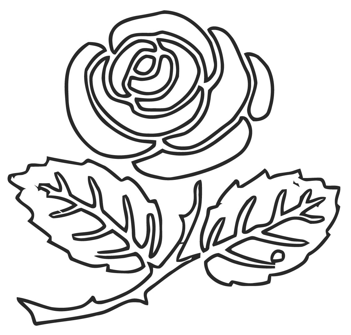 Rose M9 Coloring Page