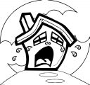 Sad House Coloring Page
