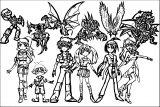 The Bakugan Battle Brawlers And Their Bakugan Coloring Page