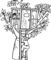 Tree House Coloring Page