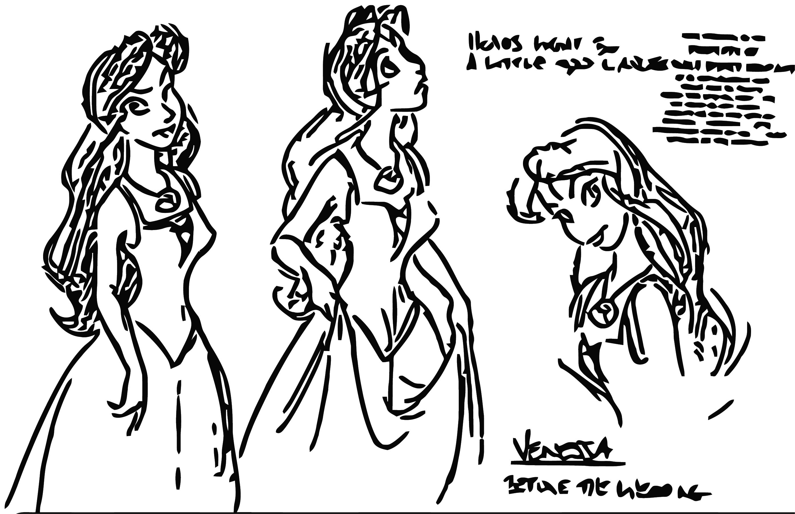 Vanessa Before The Wedding Character Design The Little Mermaid 18835940 742 481 Cartoonize Coloring Page