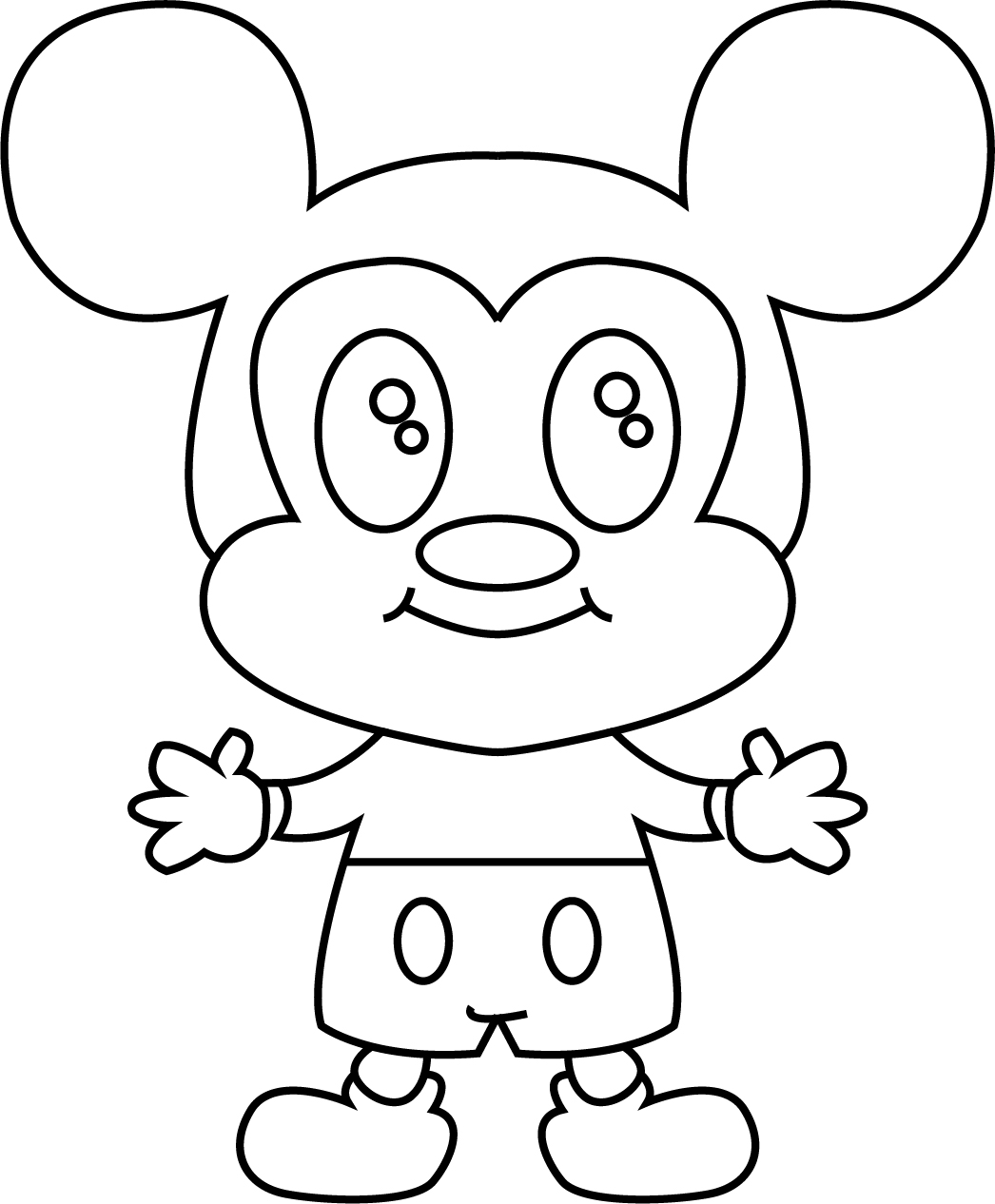 Very Cute Disney Mouse Coloring Page