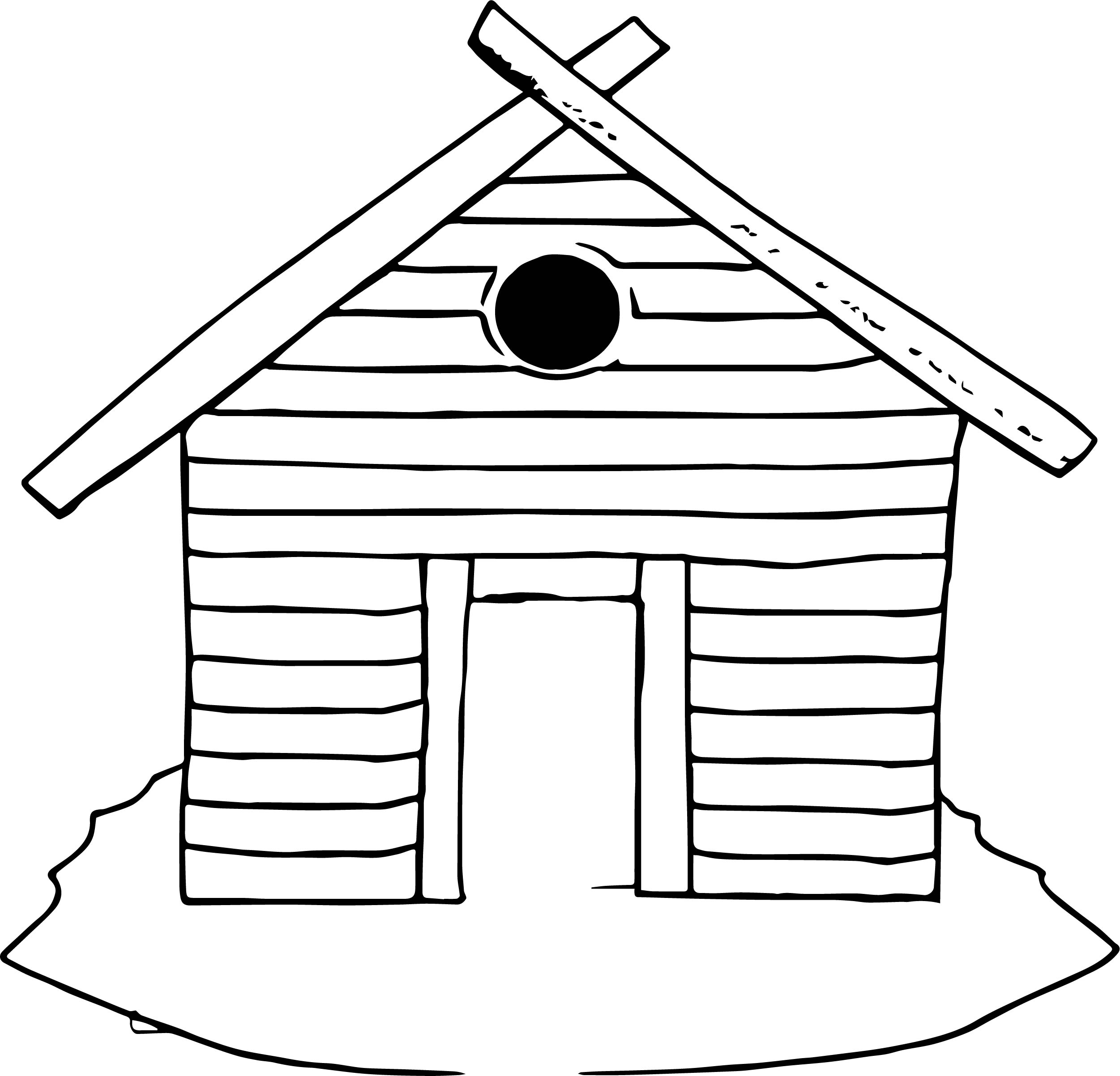 Village House Coloring Page