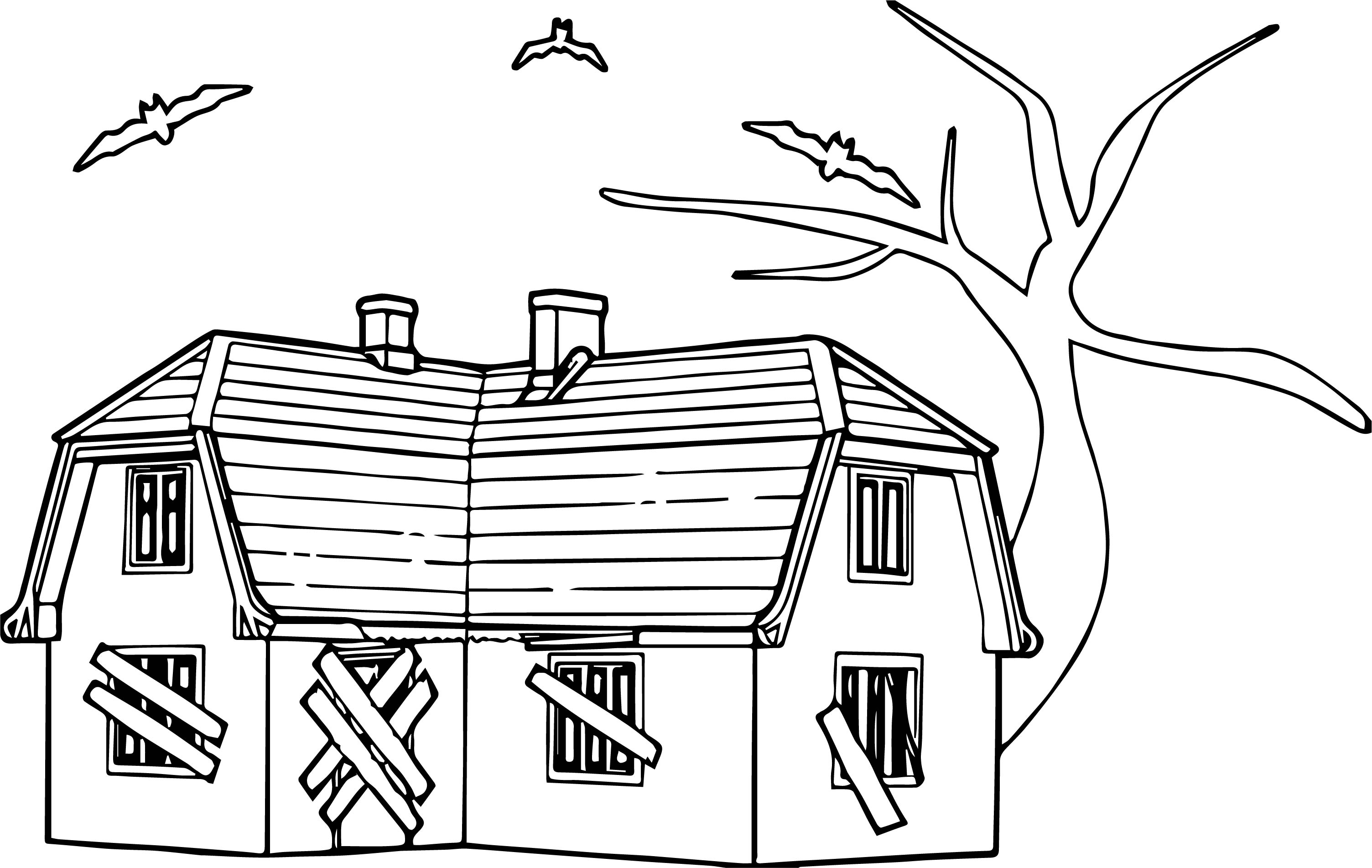 haunted house Coloring Page (2)