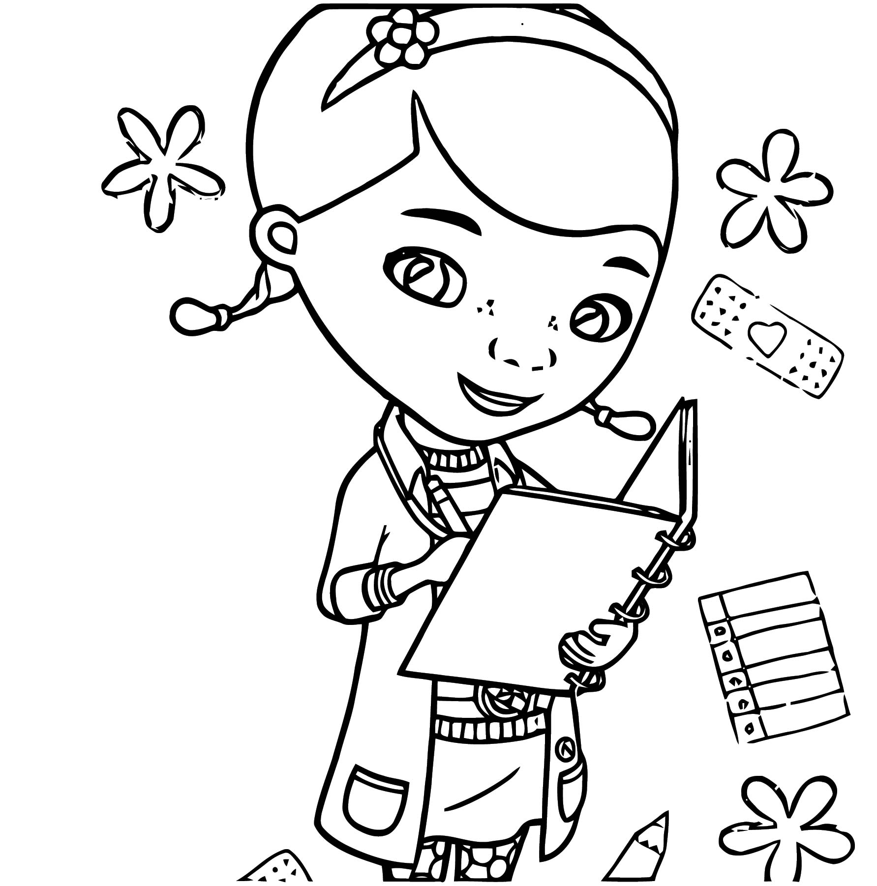 kids doc mcstuffins Coloring Page
