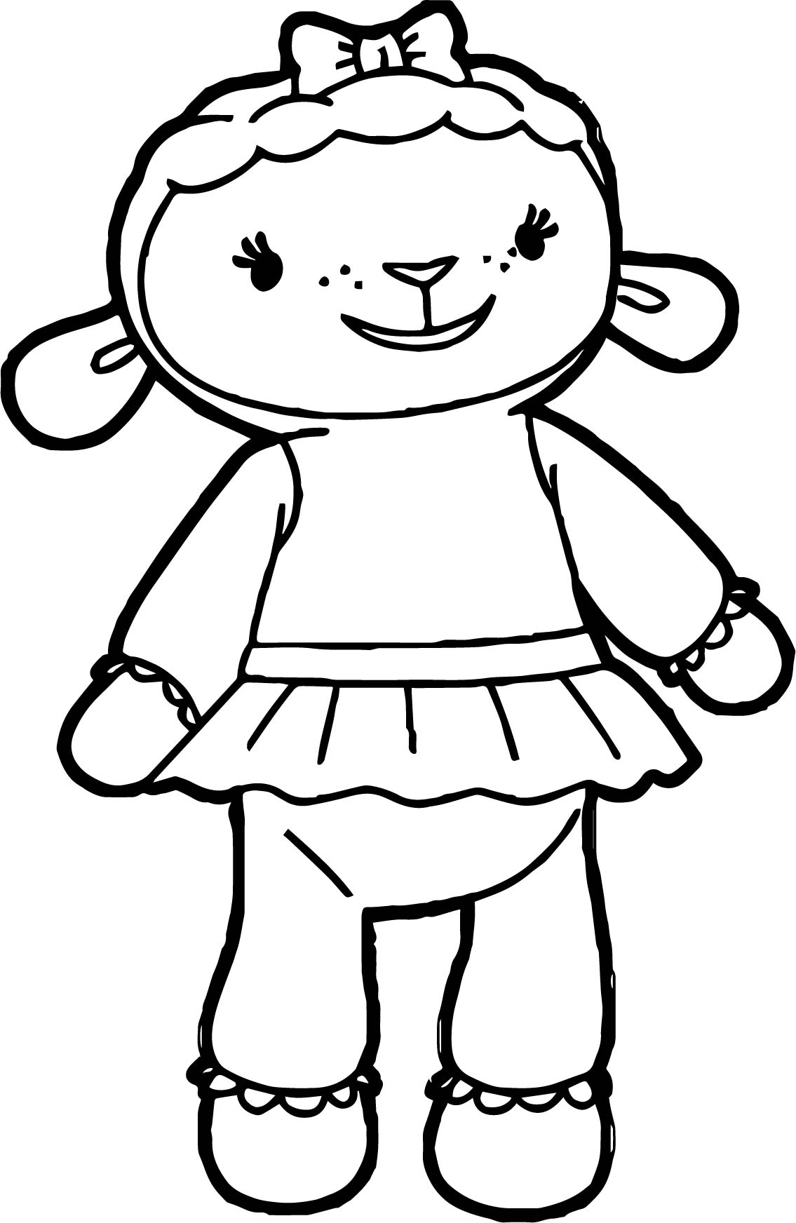 lambie 3 coloring page