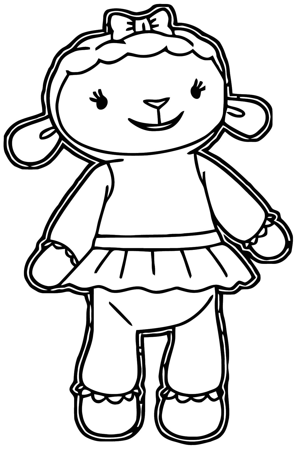 lambie 4 coloring page