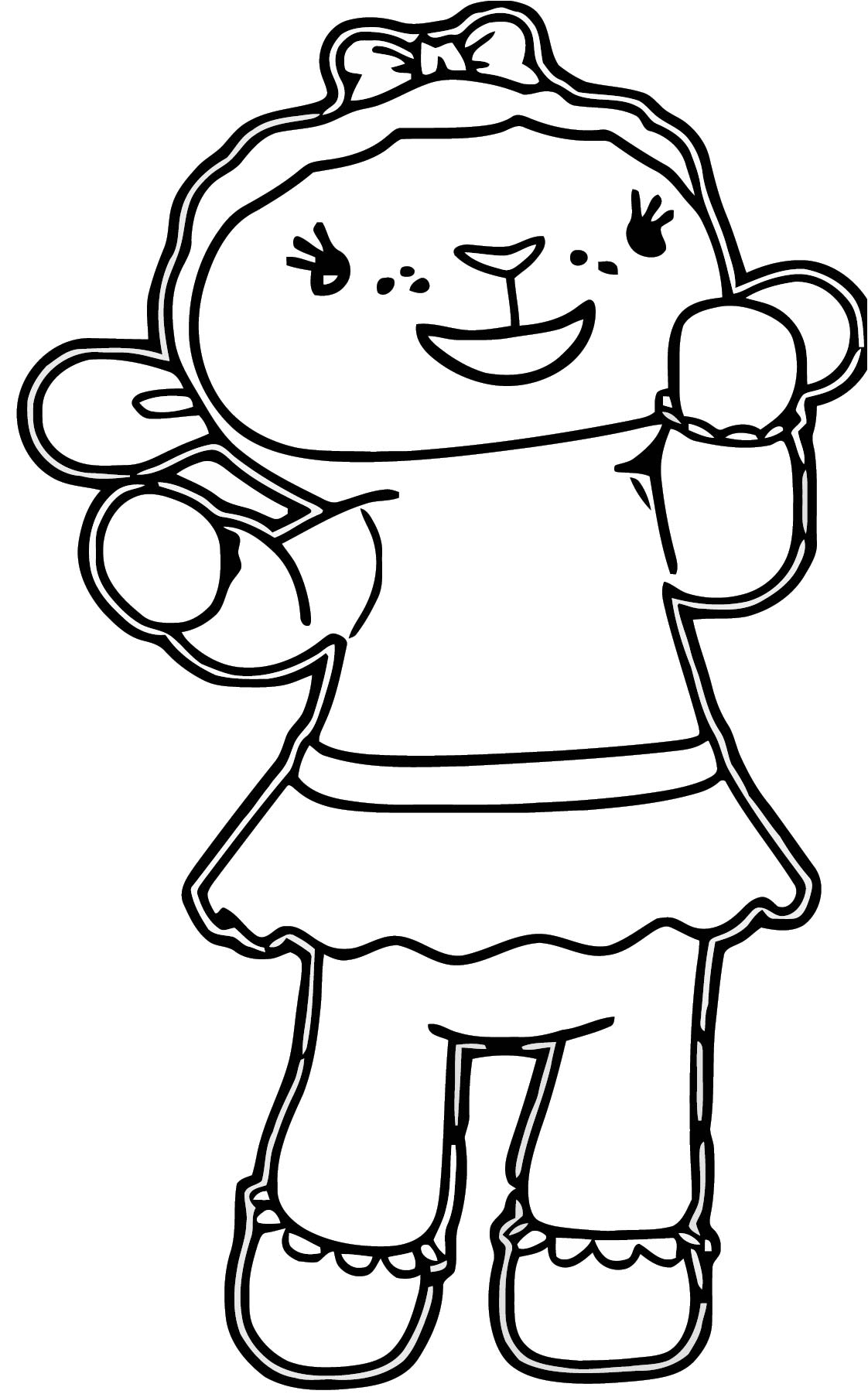 lambie 5 coloring page