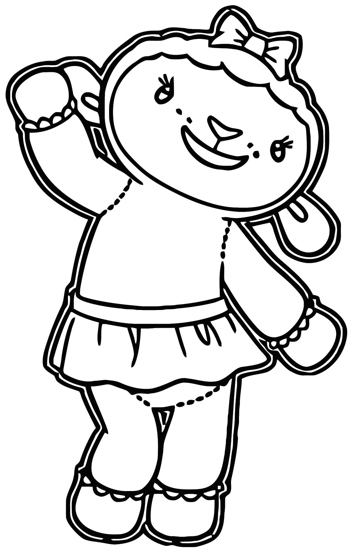 lambie Cartoon coloring page