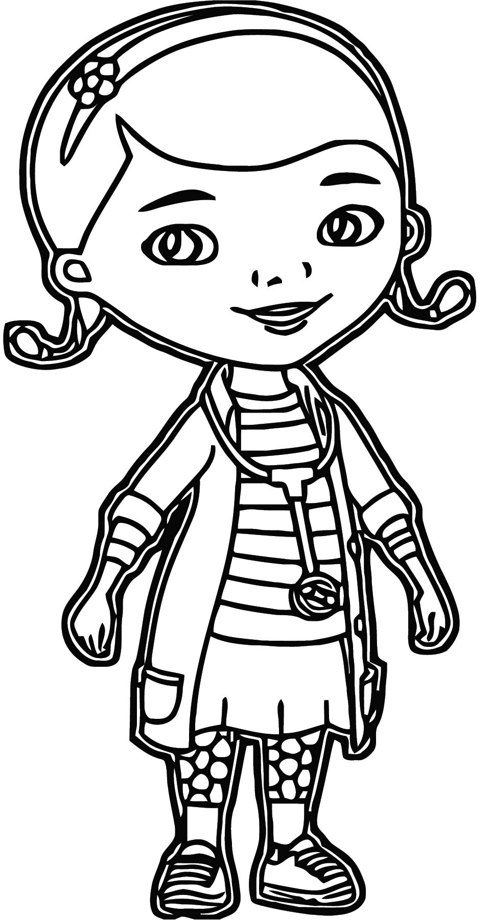 Mcstuffins Girl Doctor Coloring Page Waiting | Wecoloringpage.com