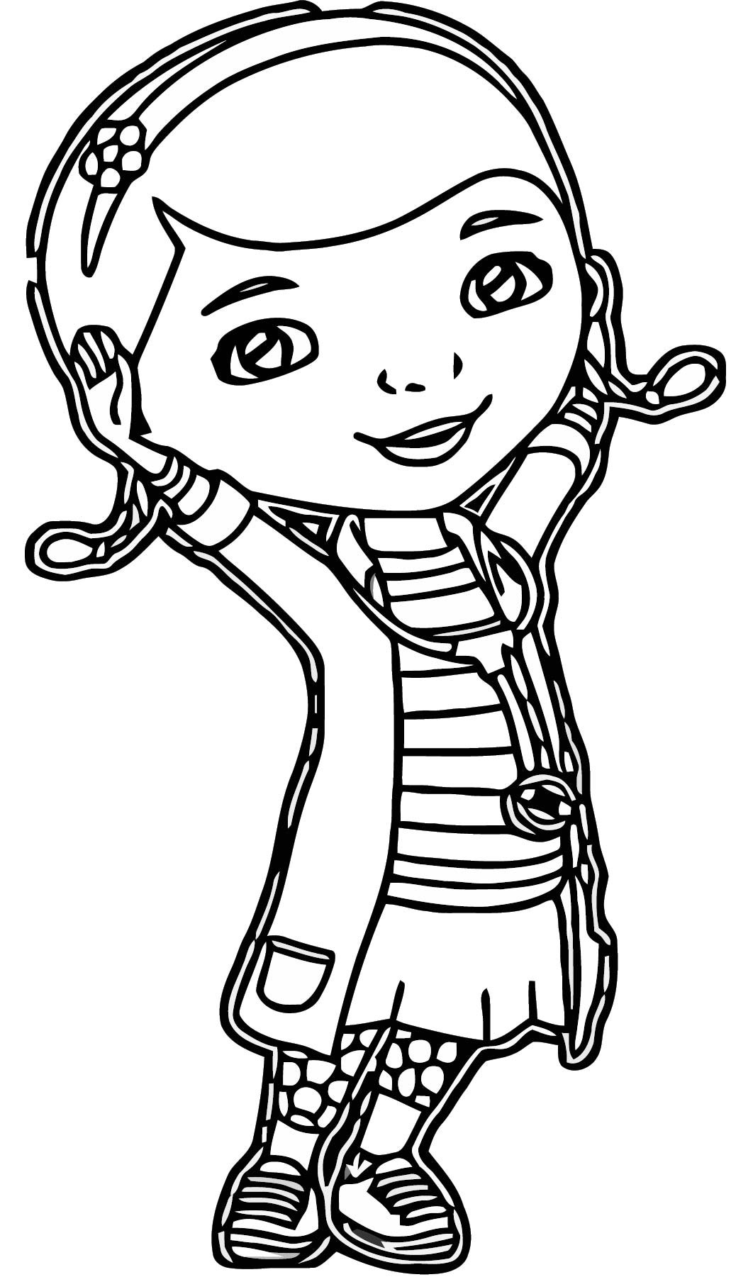 mcstuffins girl doctor coloring page