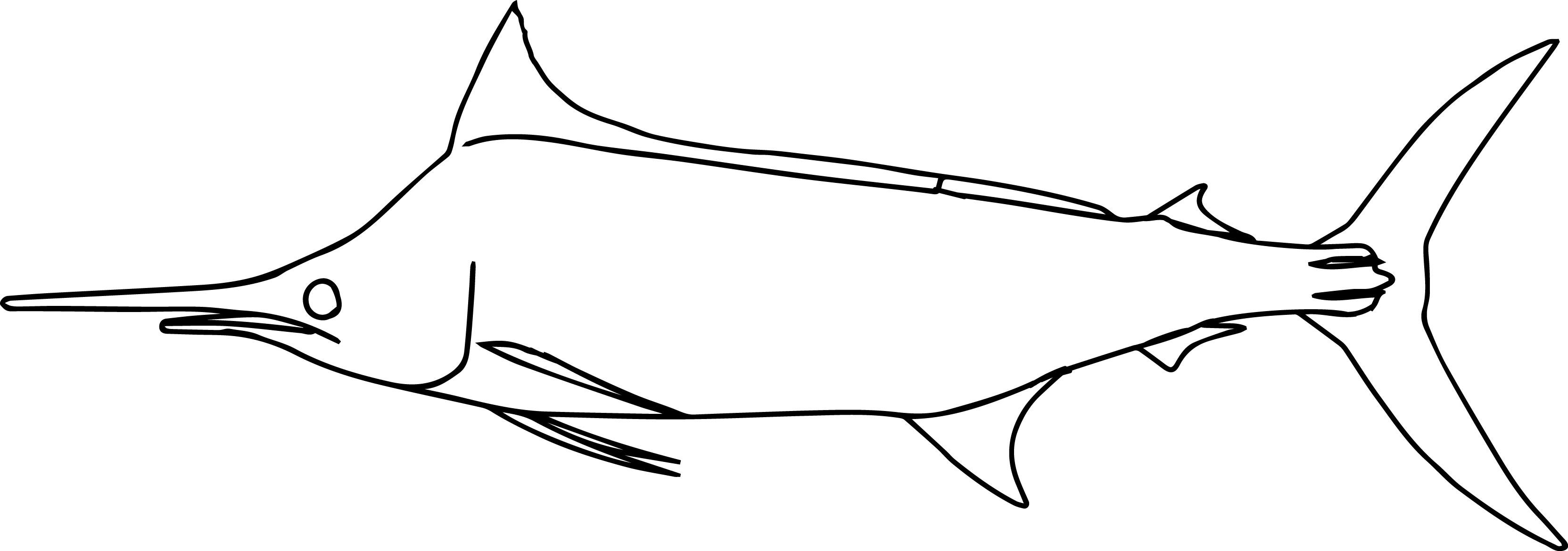 Buluemarlin0 Fish Coloring Page