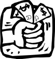 Fist Full Of Money Coloring Page
